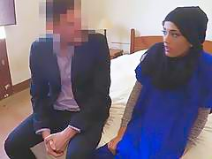 A nice, beautiful Arab woman got paid to suck and fuck