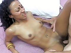 Nasty Pakistani babe spreads her legs for white fuck boy
